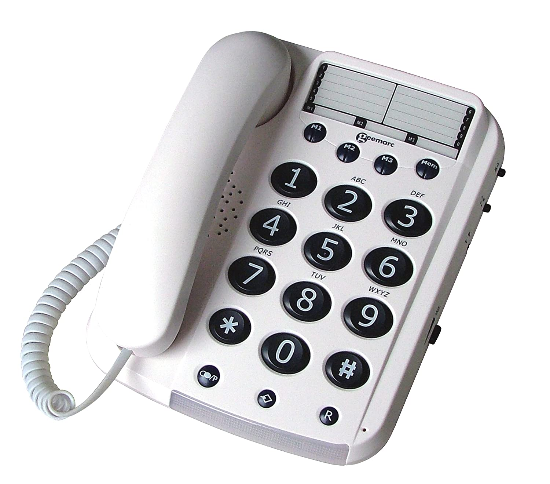 amazon com geemarc dallas 10 big button corded telephone uk