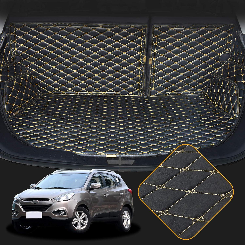 Orealtech Kofferraummatte Auto Für Hyundai Ix35 2010 2017 Allwetter Xpe Leder Kofferraumwanne 3d All Inclusive Stil Schmutzfangmatte Auto