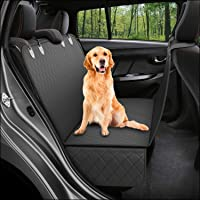 Dog Back-Seat Cover Protector Waterproof Scratchproof Nonslip Hammock for Dogs Backseat Protection Against Dirt and Pet Fur Durable Pets Seat Covers for All Cars Trucks SUVs (Black)