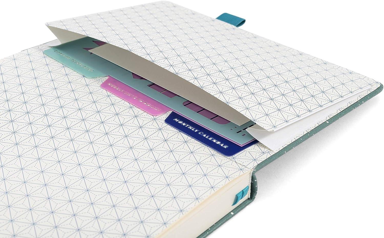 Pochoirs Bonus The Classic par Ottergami 150gsm Papier notebook Grain Lilas Carnet de Notes Carnet Bullet Journal Pointill/é