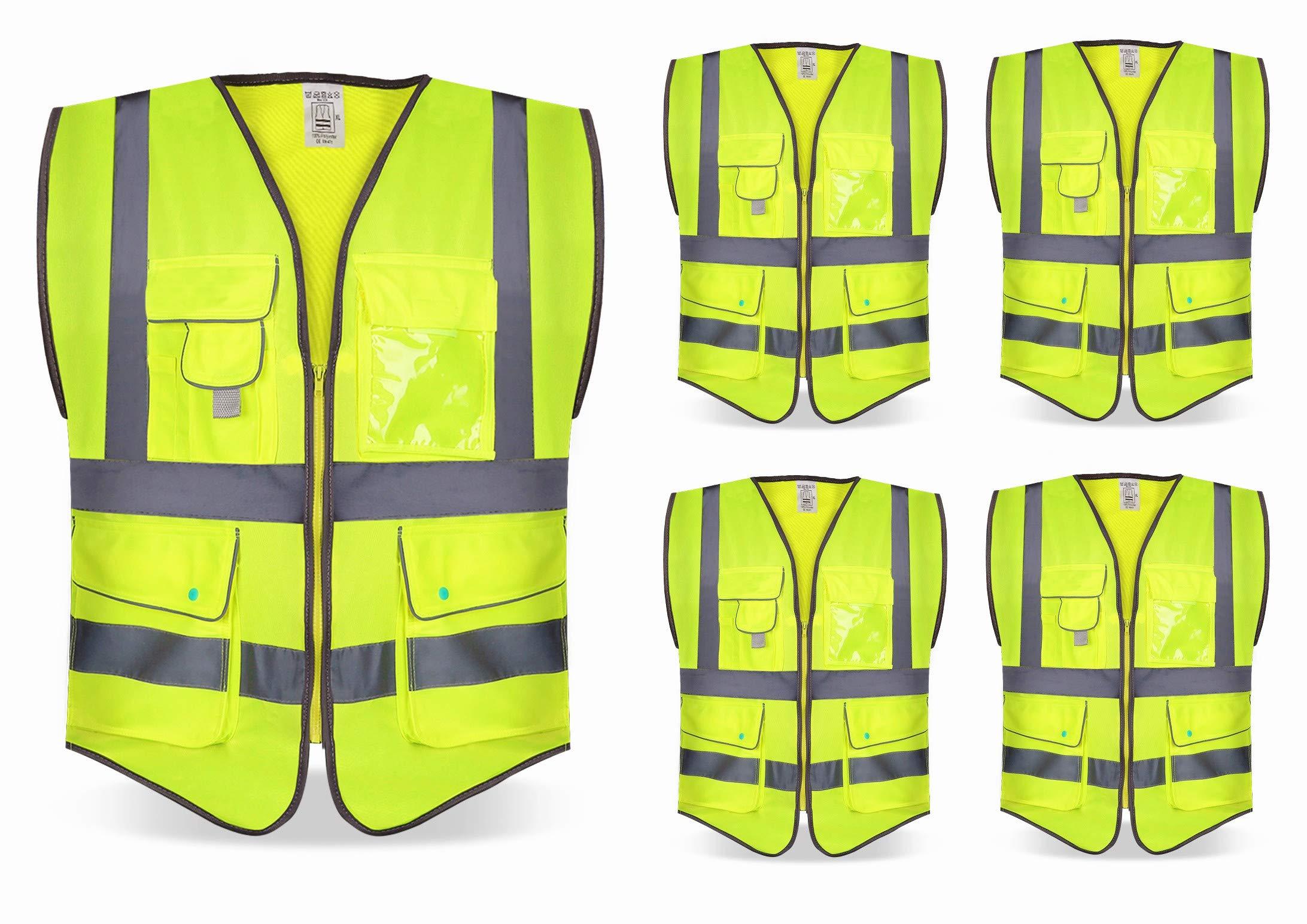 ID Unisex Hi Visibility Fluorescent Worker Vest