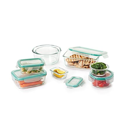 Amazoncom OXO Good Grips 16 Piece Smart Seal Leakproof Glass Food
