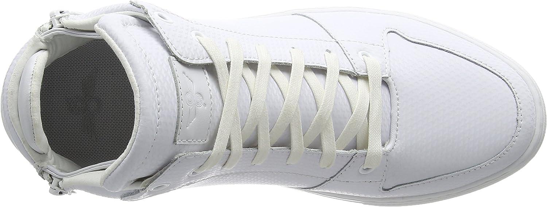 Creative Recreation Herren Adonis Mid Weiß Leder Hochgeschnittene Turnschuhe