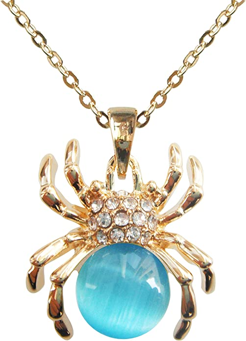 14K Rose Gold-plated 925 Silver Crab Pendant with 18 Necklace Jewels Obsession Crab Necklace
