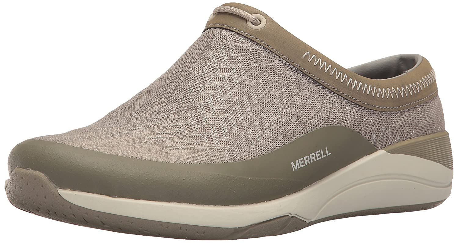 Taupe Merrell Womens Applaud Mesh Slide Hiking shoes