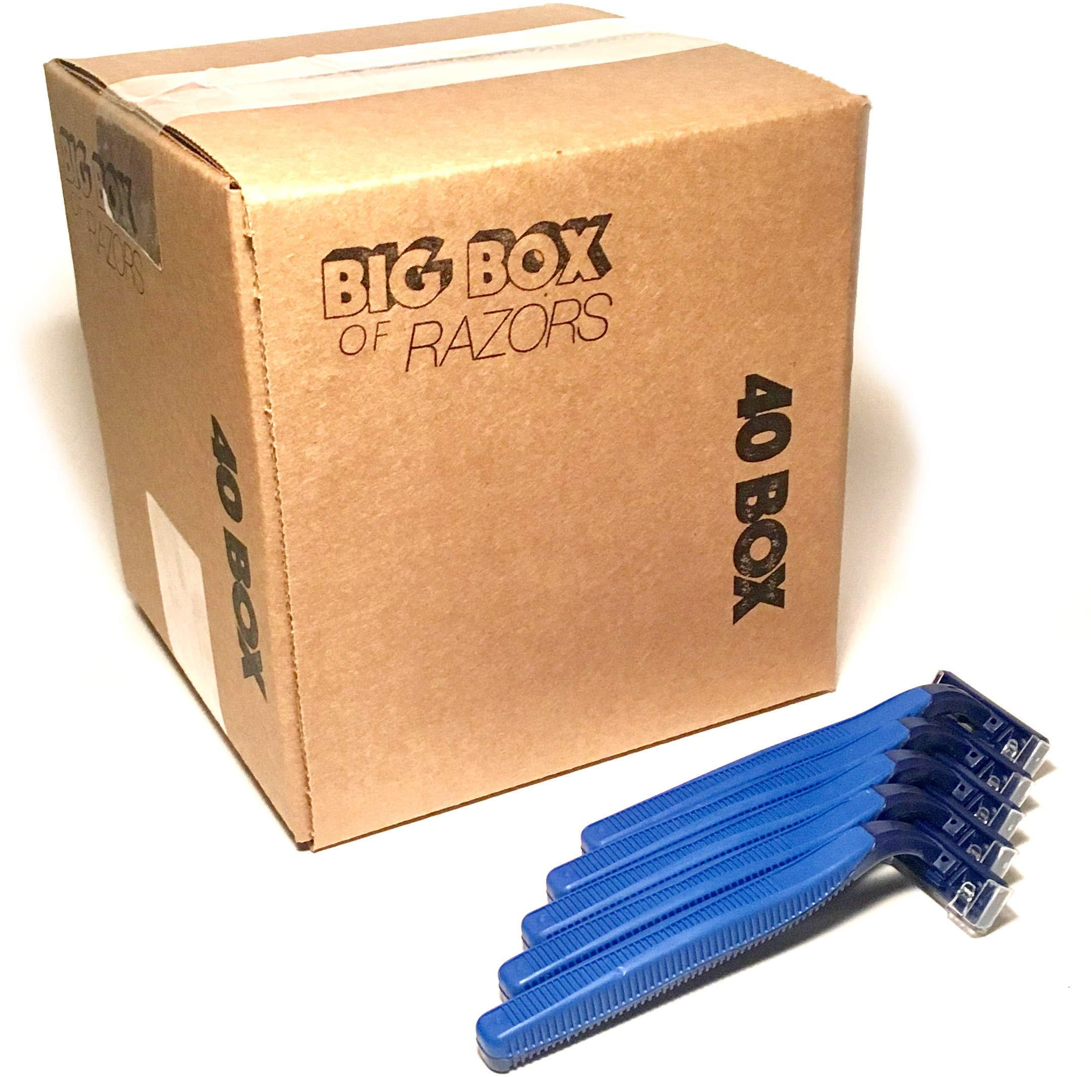 40 Box of Quality Bulk Disposable Twin Blade Razors for Men and Women