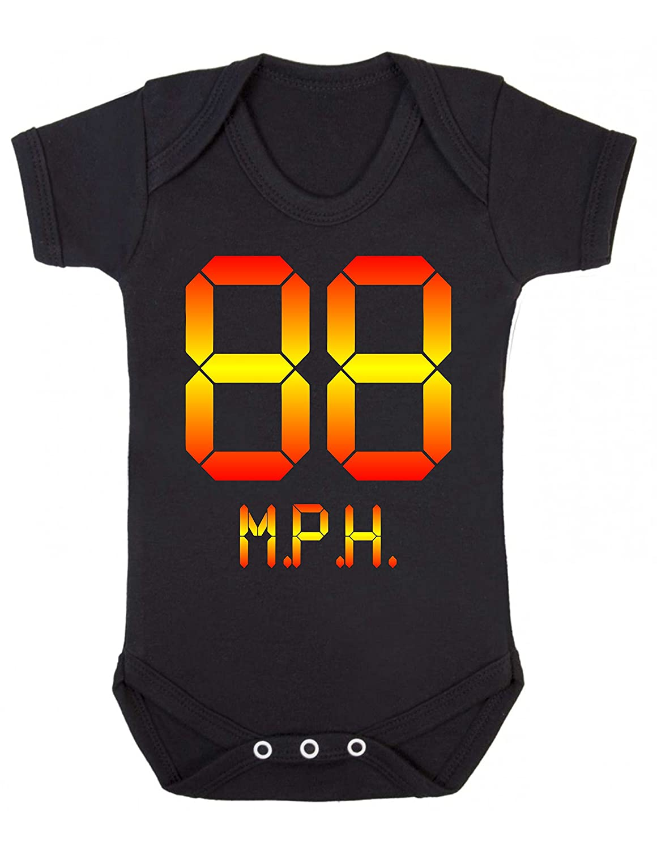 6-12MTHS, BLACK Bullshirts 88 MPH Babygrow