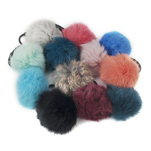 Alice 12 pz Fluffy palla pom pom Scrunchies elastico coda di cavallo   Amazon.it  Salute e cura della persona 8b0b22a0d3c0