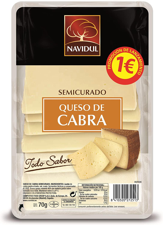 Navidul, Mezcla de quesos envasadas (Cabra semicurado) - 70 ...