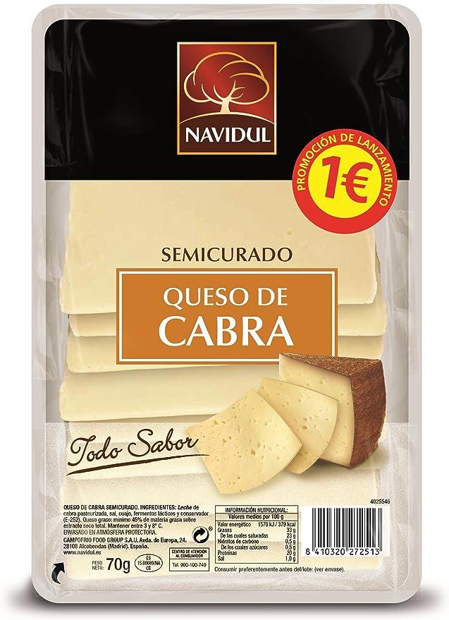 Navidul, Mezcla de quesos envasadas (Cabra semicurado) - 70 gr ...