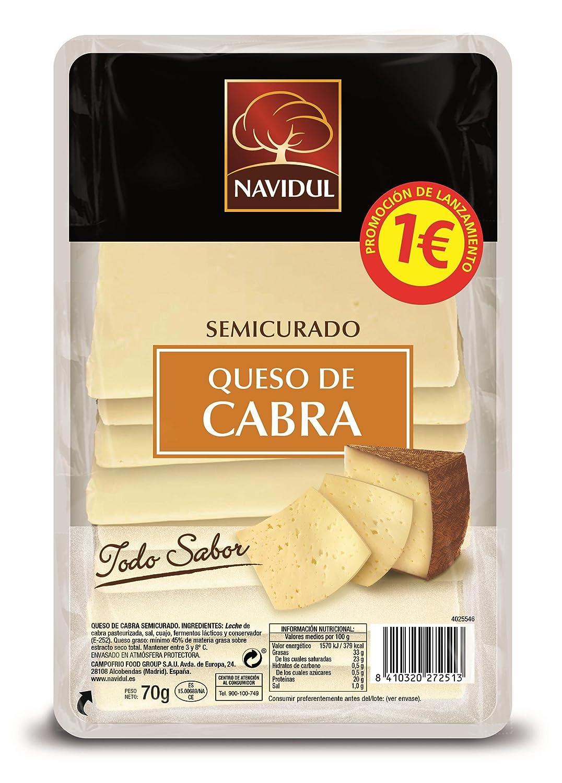 Navidul, Mezcla de quesos envasadas (Cabra semicurado) - 70 gr.: Amazon.es: Alimentación y bebidas
