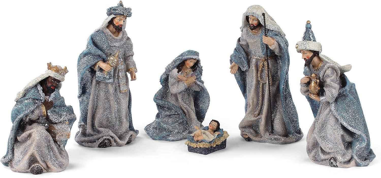 Ranking TOP7 Ranking TOP3 Sentimental Blue Vintage Nativity 10.5 Resin Decorati Stone inch