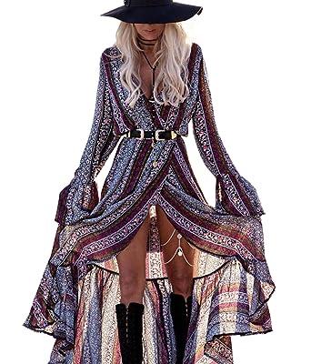 b2f3eab5c80d R.Vivimos Womens Summer Long Sleeve Cardigan Sexy Maxi Long Dresses ...