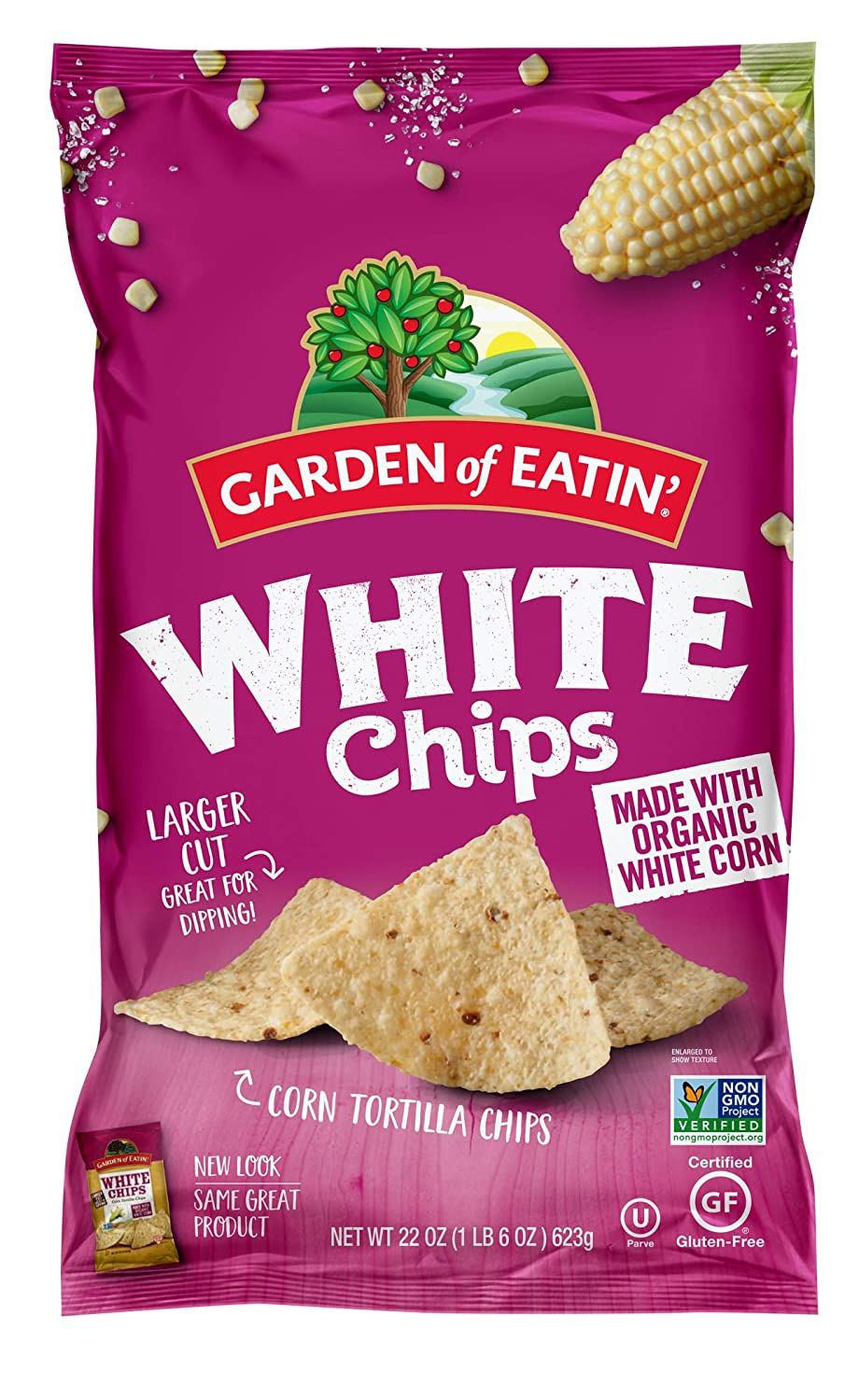 Garden of Eatin' Corn Tortilla Chips, White Chips, 22 Oz (Pack of 10) (Packaging May Vary)
