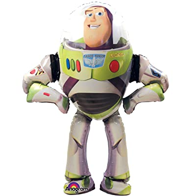 Anagram International Buzz Lightyear Air Walker, Multi-Color: Toys & Games