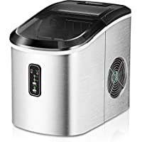Euhomy Ice Maker Machine Countertop, 26 lbs in 24 Hours, 9 Cubes Ready in 6 Mins, Electric ice maker and Compact potable…