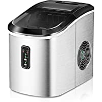 Euhomy Ice Maker Machine Countertop, 26 lbs in 24 Hours, 9 Cubes Ready in 6-8 Mins, Electric ice maker and Compact…