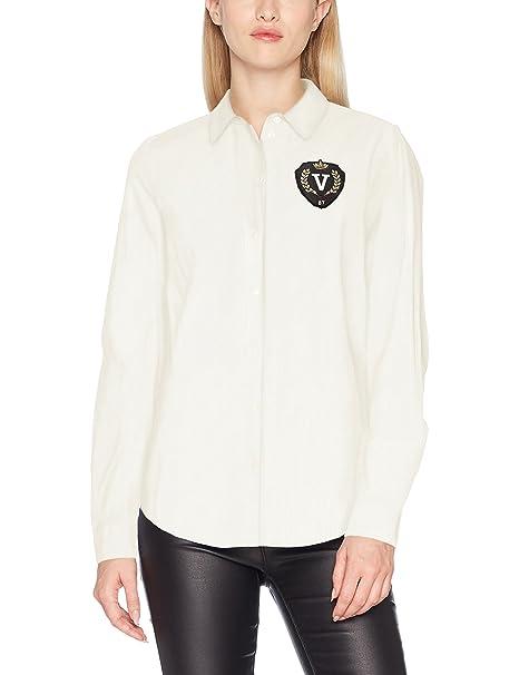 Vero Moda Vmleah Badge LS Shirt, Blusa para Mujer: Amazon.es: Ropa y accesorios