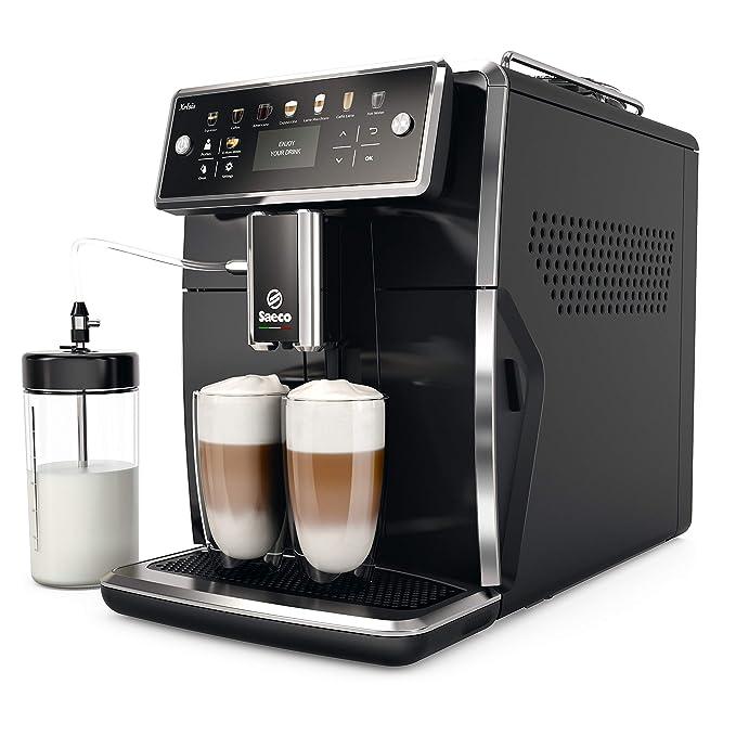 Saeco SM7580/00 Cafetera Espresso Súper Automática Acero Inoxidable, Negro: Amazon.es: Hogar
