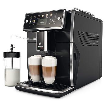 Saeco SM7580/00 Cafetera Espresso Súper Automática Acero Inoxidable, Negro