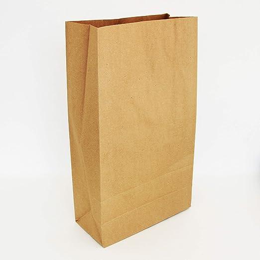 Extiff – Juego de Bolsas Sobres Papel Kraft sin asa 34,5 x 20 x 9 cm Bolsas reciclables para Alimentos o Objetos