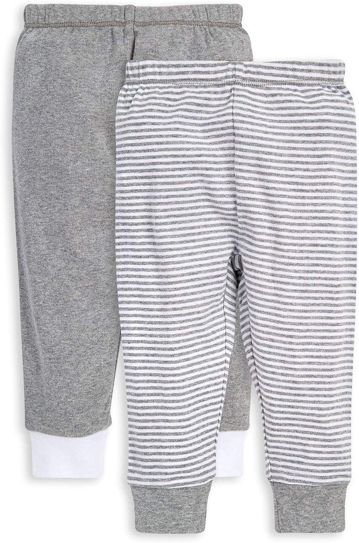 Burt's Bees Baby - Unisex Baby Pants, Set of 2 Lightweight Knit Infant Bottoms, 100% Organic Cotton
