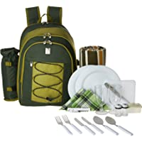 ALLCAMP Picnic Backpack for 4 Person (Green)