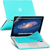 GMYLE 3 in 1 Bundle Turquoise Blue Soft-Touch Frosted Hard Case for Macbook Pro 13 inch with CD-ROM (Model: A1278) with Turquoise Blue Keyboard Cover and Screen Protector