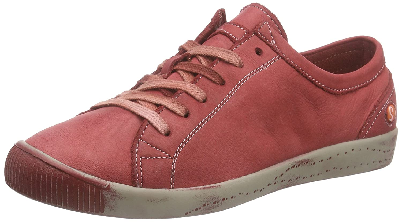 Softinos Isla Washed - Zapatillas Mujer 36 EU|Rojo (Red 527)