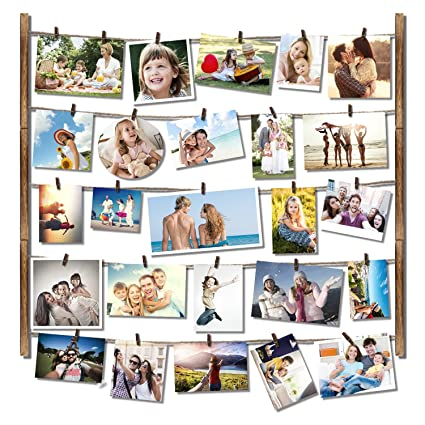 amazon com roolee hanging picture frame wood picture frame
