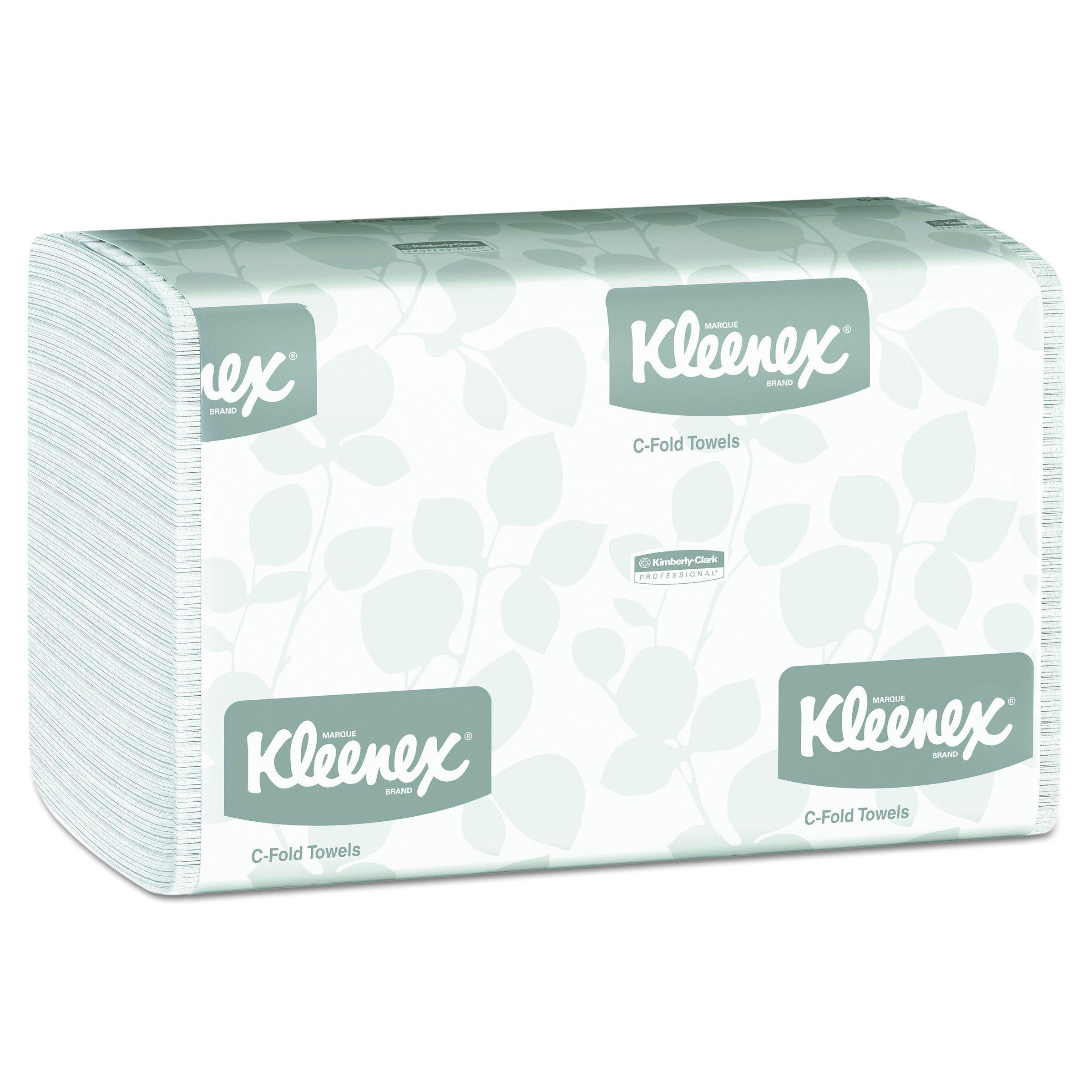 Kleenex 01500 C-Fold Paper Towels, 10 1/8 x 13 3/20, White, 150 per Pack (Case of 16 Packs)