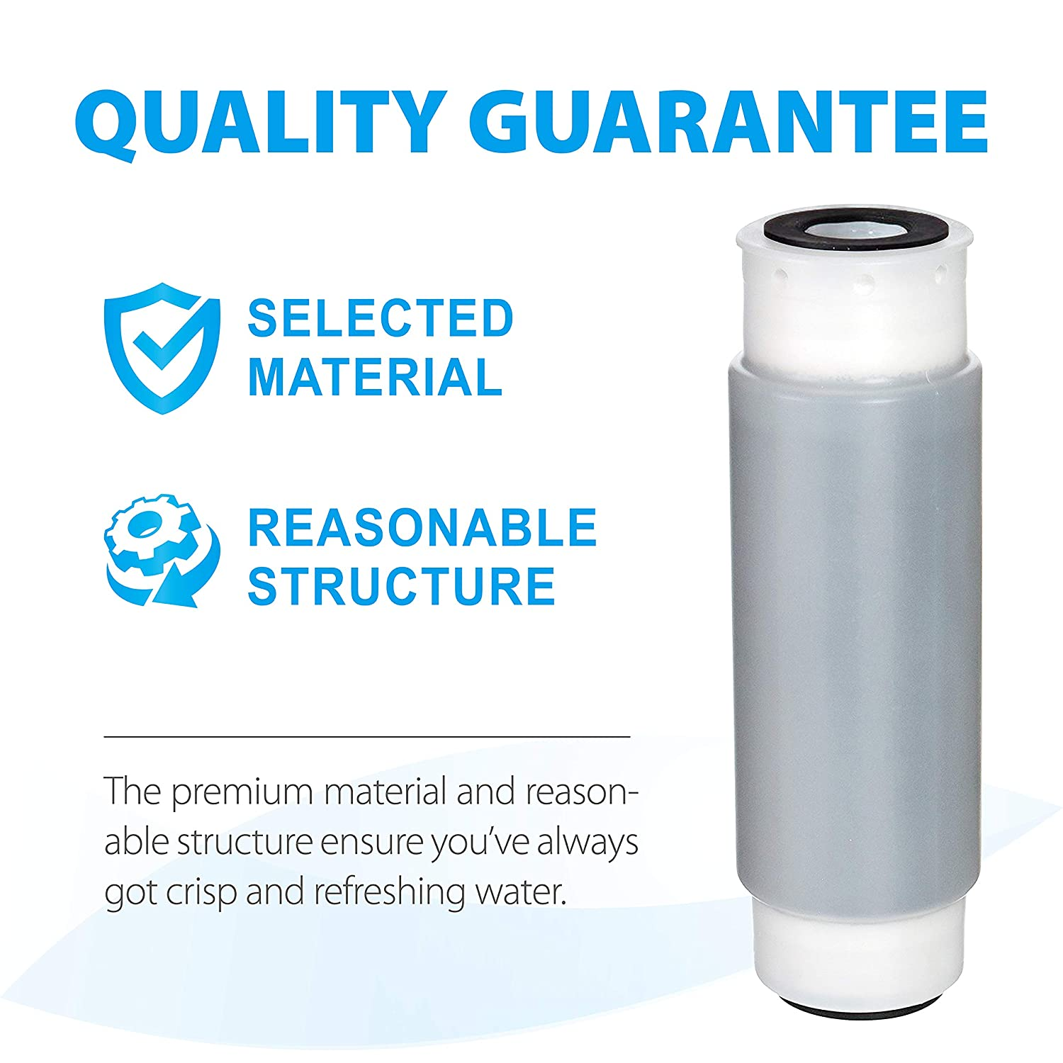 Pack of 4 Compatible with 3M Aqua-Pure AP117 Drinking Water System Whole House Water Filter Whirlpool WHKF-GAC for Chlorine Dirt and Rust Reduction