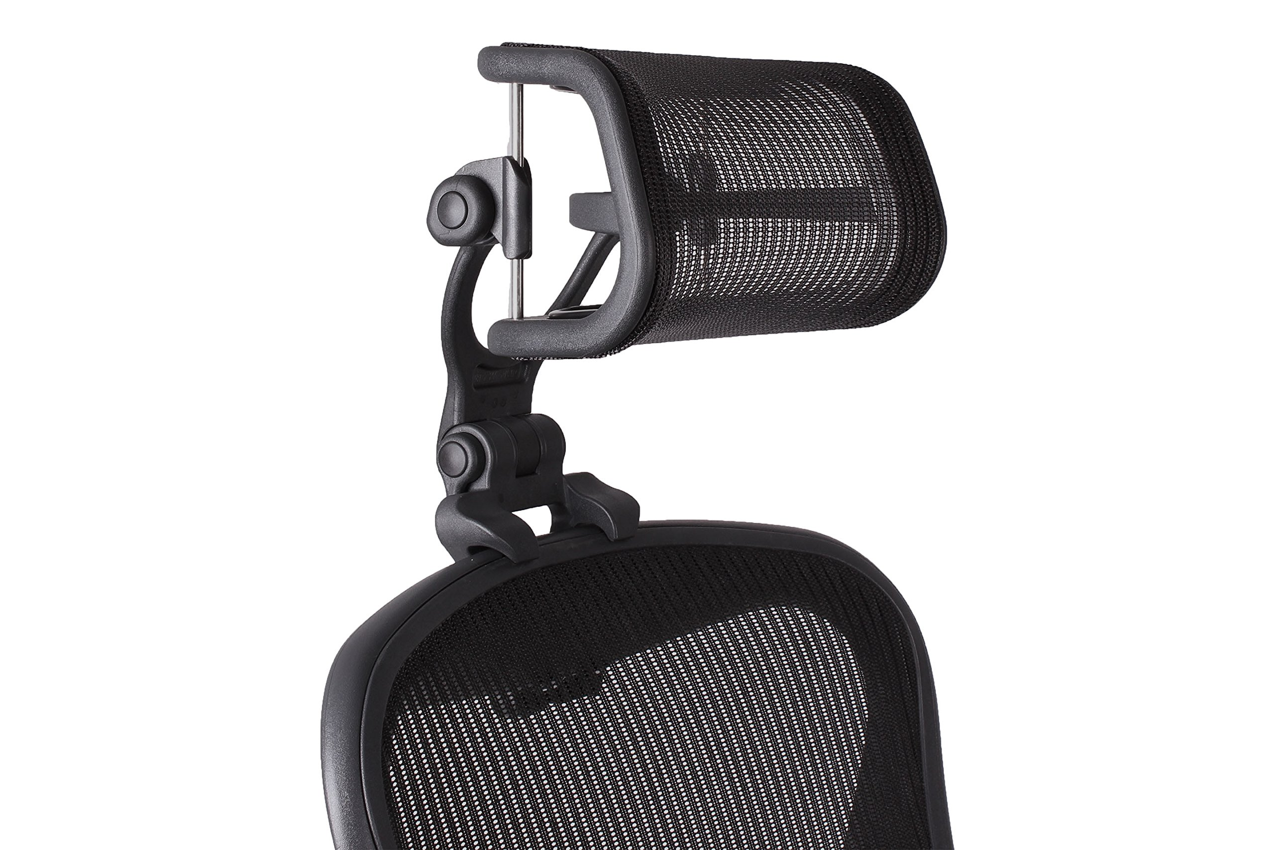 The Original Headrest for The Herman Miller Aeron Chair H4 Carbon | Colors and Mesh Match Classic Aeron Chair 2016 and Earlier Models by Engineered Now