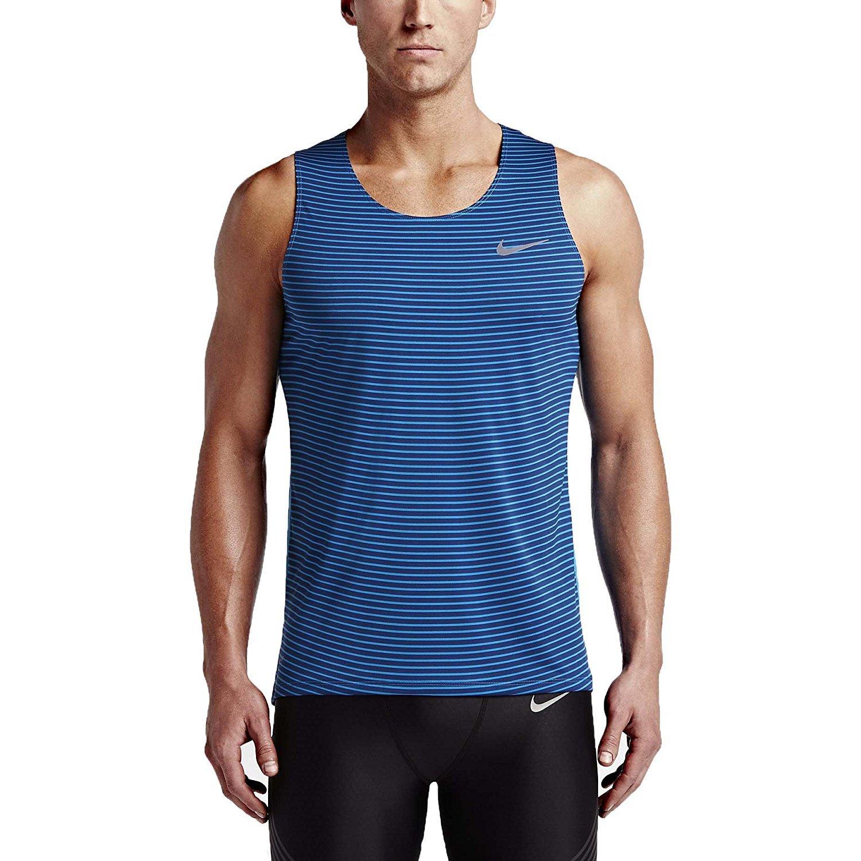 3fb3982c9c8550 Amazon.com  Nike Men s Dri-Fit Racing Print Running Singlet-NavyBlue LtBlue  2XL  Sports   Outdoors