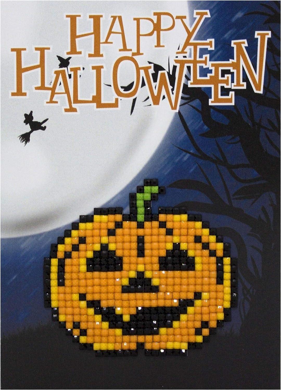 Wizardi Diamond Painting Card Kit Pumpkin Happy Halloween