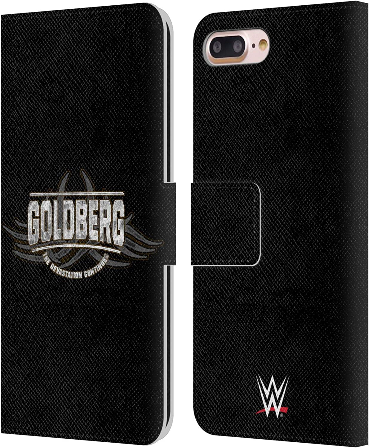 Head Case Designs Officially Licensed WWE The Devastation Continues Goldberg Leather Book Wallet Case Cover Compatible with Apple iPhone 7 Plus/iPhone 8 Plus