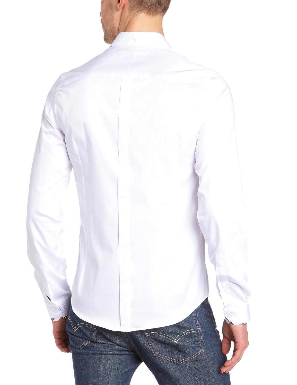 Joe Retro - Chemise - Homme - Blanc (White) - Medium  Amazon.fr  Vêtements  et accessoires b380eaf20e7f