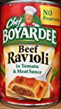 Chef Boyardee BEEF RAVIOLI in Tomato & Meat Sauce 15oz (2-Pack)