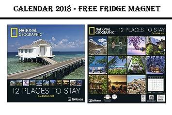 Kühlschrank Kalender : National geographic places to stay grid kalender