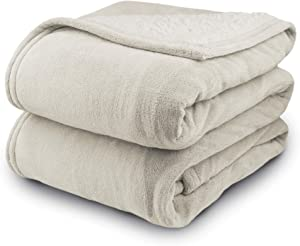 Biddeford 2063-9032138-780 MicroPlush Sherpa Electric Heated Blanket Queen Linen