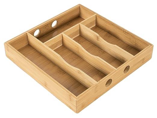 elbmöbel bambú 30 x 30 x 5 cm cajón con 5 compartimentos ...