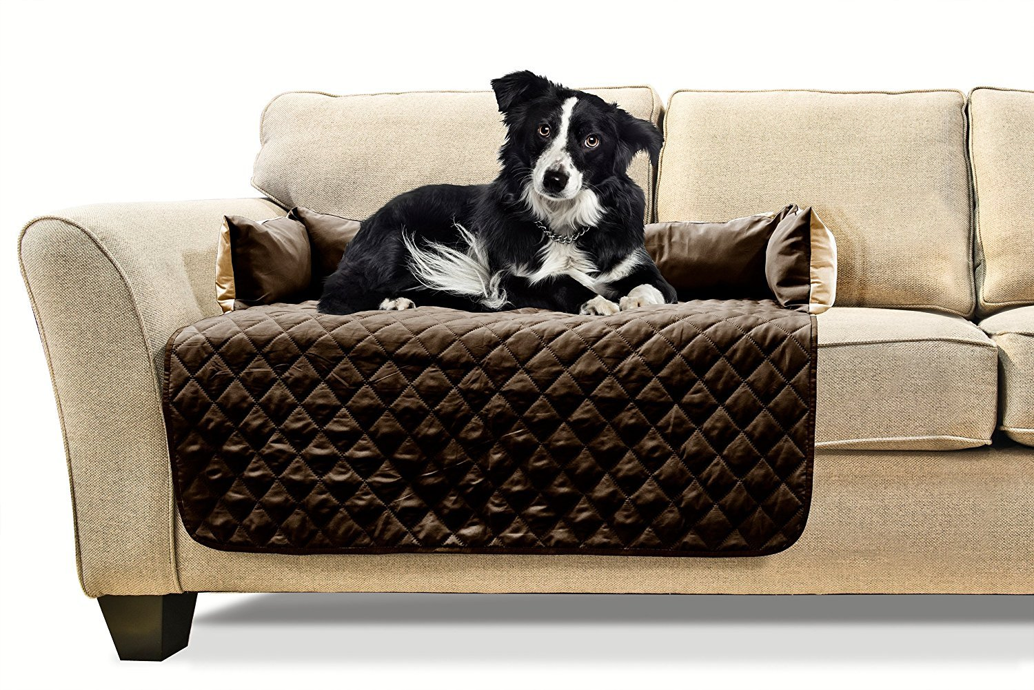 FurHaven Pet Furniture Cover | Sofa Buddy Reversible Furniture Cover Protector Pet Bed for Dogs & Cats - Available in 3 Colors & Sizes