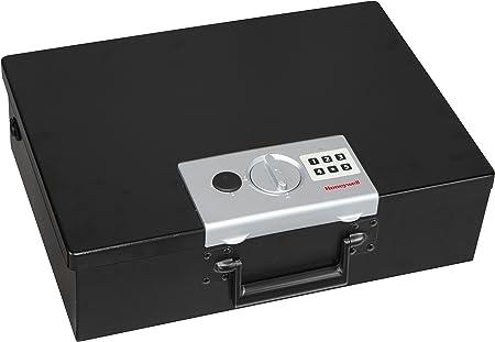 Honeywell 6110 - Caja fuerte pequeña resistente al fuego para documentos, 14 l, cierre digital, paredes dobles de acero: Amazon.es: Oficina y papelería