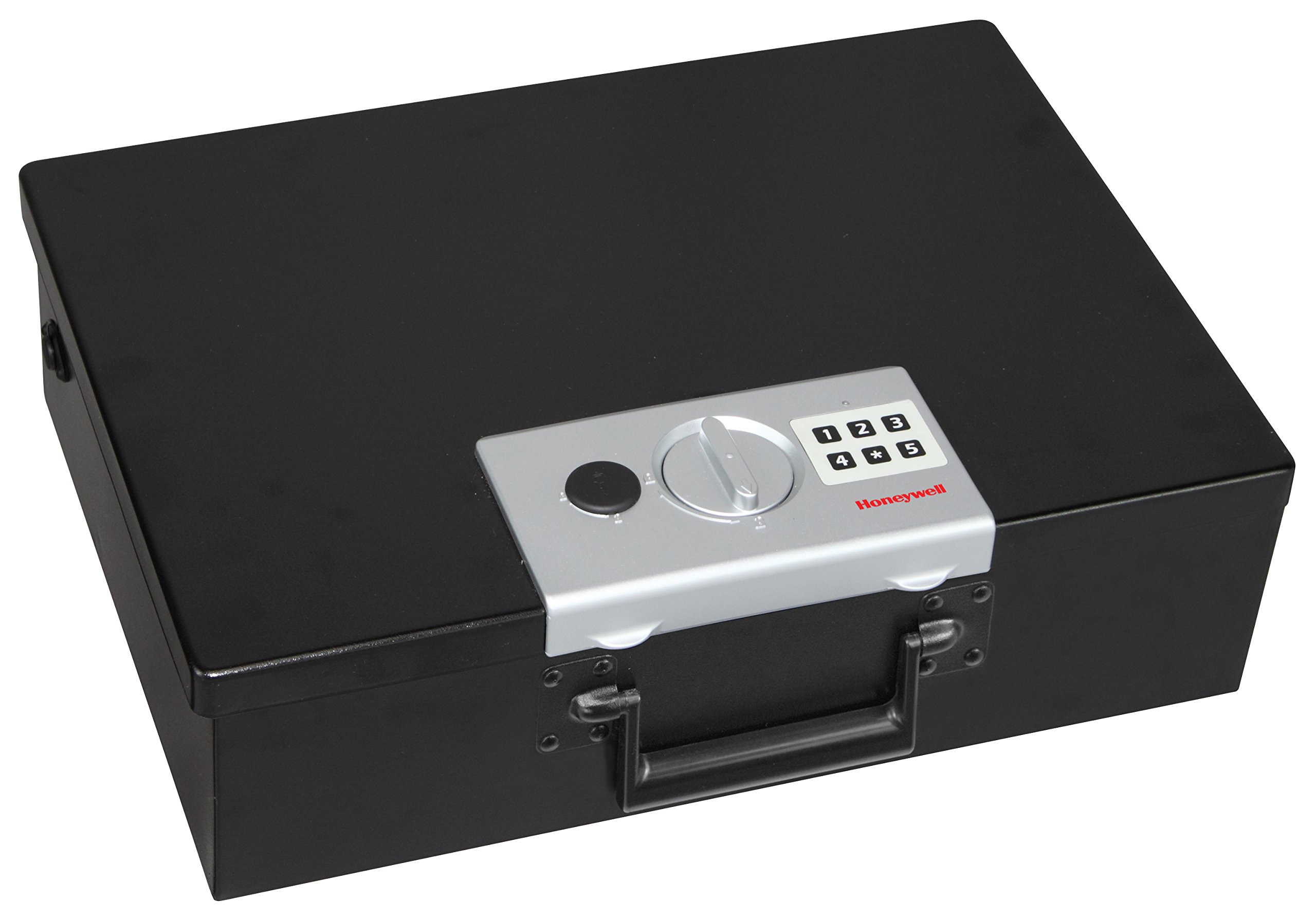 HONEYWELL - 6110 Large Fire Resistant Steel Security Safe Box with Digital Lock, 0.48-Cubic Feet, Black