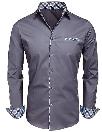 Dark Mens Dress Shirt