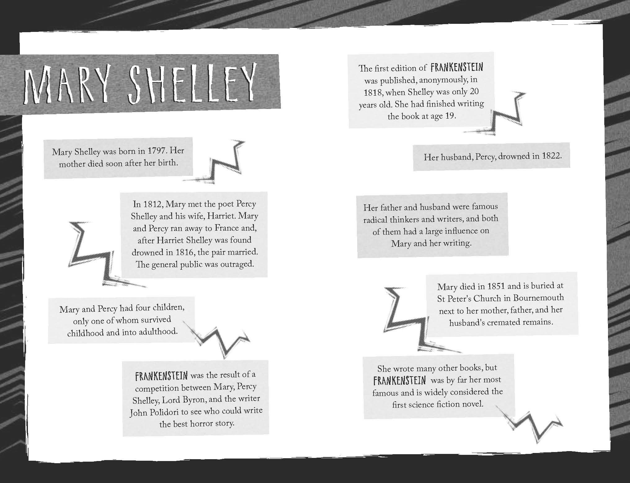 mary shelley writing style