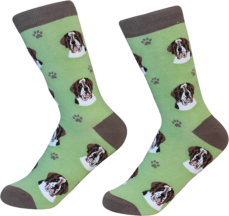 Saint Bernard Dog Breed Socks Unisex Sock Daddy by E&S Pets