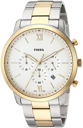 cd6baef88ff Image Unavailable. Image not available for. Colour  Fossil Analog White  Dial Men s Watch ...