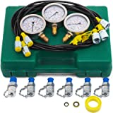 VEVOR Hydraulic Pressure Gauge Kit Excavator Parts Hydraulic Tester Coupling Hydraulic Pressure Test Kit for Excavator…