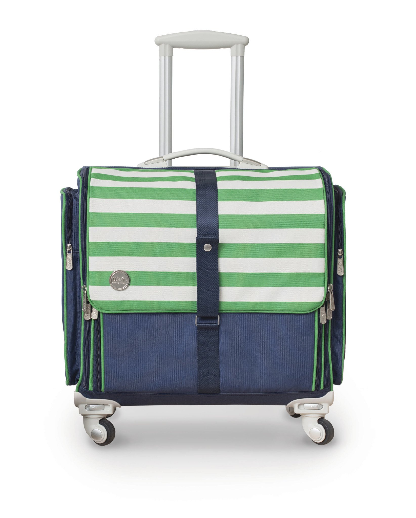 360-Degree Fold Up Crafter's Bag by We R Memory Keepers | Navy & Green